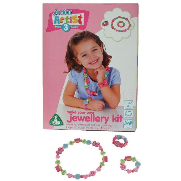 ELC Junior Artist Make Your Own Flower And Heart Jewellery Kit -- 3+ Years